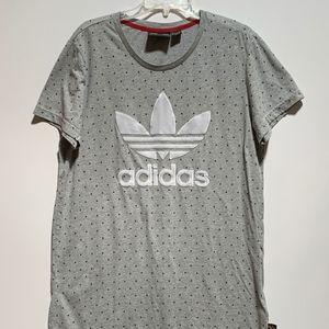 Adidas Trefoil Gray Logo Shirt